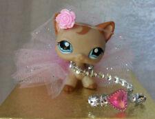 Littlest Pet Shop 4 Custom Accessories Tulle Skirt  Flower Leash Earrings