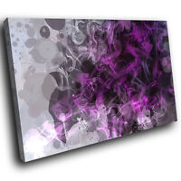 ZAB806 Purple Grey Black Cool Modern Canvas Abstract Wall Art Picture Print