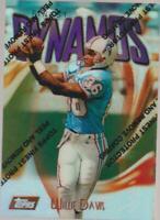 1997 Topps Finest #D11-76 Willie Davis REFRACTOR card, Houston Oilers