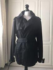 Primark Men's Cedarwood State Black Classic  Trench Raincoat/ Mac /Jacket Size L