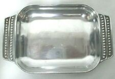 """Wilton Armetale Flutes & Pearls Toaster Oven 9.75"""" Bowl Tray Handles 272045 Usa"""