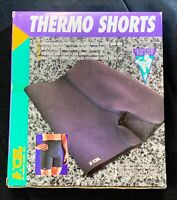NEW VINTAGE Thermo XL Shorts Retro Athletic Support COMPRESSION Fitness Black