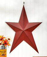 """Primitive Country 24"""" Wall Stars Outdoor Rustic Barn Star Greeting Welcome Star"""