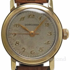 Longines Round Case Cal.10L Small Second Hand-winding Authentic Mens Watch Japan