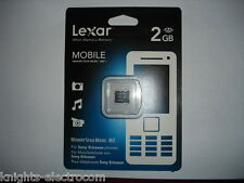 LEXAR 2GB MEMORY STICK MICRO M2  for Sony Ericsson phones cameras PSP