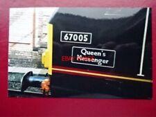 PHOTO  NAMEPLATE QUEEN'S MESSENGER CLASS 67 NO 67005
