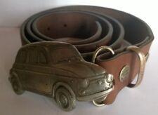 Boucle de ceinture FIAT 500 en étain (Graphil) avec ceinture cuir Request Belts