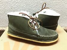 UGG BUCKFIELD DARK OLIVE HANDMADE BY QUODDY LEATHER SHOE US 8 / EU 40.5 / UK 7