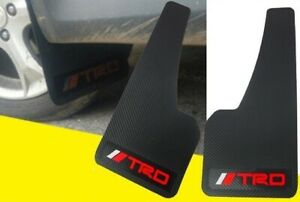 2Pcs TRD Power 3D Carbon Fiber Car Mudflaps Mud Guard Fender Universal