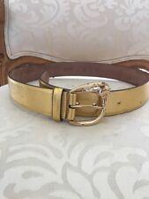 Roberto Cavalli Gold Leather Belt 42/85 (small)