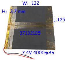 7.4 V 4000mAh Recargable Batería de polímero Li Po para Pad Medio Tablet PC 37132125