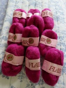 PATONS FLAIR 31% MOHAIR 63% WOOL 7 Ply  7 x 25g BALLS YARN NEW PUCE COLOUR