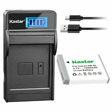 NB-6L Battery & LCD Charger for Canon PowerShot SX540 HS, SX600 HS, SX610 HS