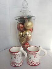 Set of 2 TEMPTATIONS Xms Coffee Tea Mug Cup By Tara Angel 12 OZ EUC Red White