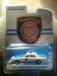 Greenlight 1989 NYPD Diecast Police Chevrolet Caprice Car,Scale 1/64.