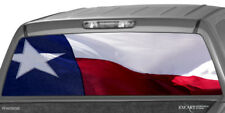 TEXAS FLAG Rear Window Graphic Decal Wrap Tint Print Truck SUV Perforated