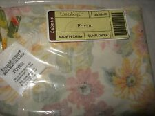 Longaberger Sunflower Fabric liner for the Foyer Basket - Mint in bag not used!