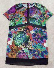 ASOS~Woman's Size 10~Floral Summer Dress Bodycon Zipper Short Sleeve.