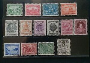 NEWFOUNDLAND 1933 1c to 32c SG 236 - 249 Sc 212 - 225 pictorial set 14 MLH