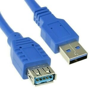 USB 3.0 Standard A Male To Female Extension Cable Lead For PC Laptop Computer BL