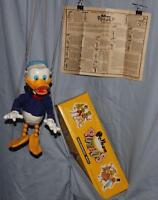"ALL EX!: 1960's""DONALD DUCK PELHAM PUPPET"" + 2 PIECE BOX + ORIGINAL INSTRUCTIONS"