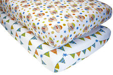 Disney DUMBO Baby  Crib Fitted  Sheet Set, 2 Count   (2 Patterns)