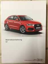AUDI Q 3 8U 2017 Instrucciones servicio Manual de Libro a bordo CD