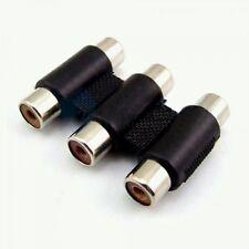 SANSAI 3xRCA Socket to 3xRCA Socket Audio Video Joiner Connector CK3053