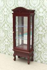 1:12 Dolls House Mahogany Display Cabinet