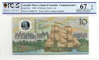 1988 Australia $10 Note Johnston/Fraser SUPERB GEM UNC 67 OPQ PCGS  AA 02006535