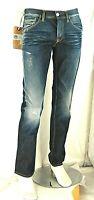 Jeans Uomo Pantaloni MAMUUT D435 Gamba Dritta Blu Tg 32