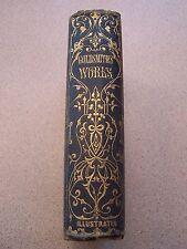 c1840 OLIVER GOLDSMITH'S PROSE AND POETICAL WORKS, Washington Irving ILLUSTRATED