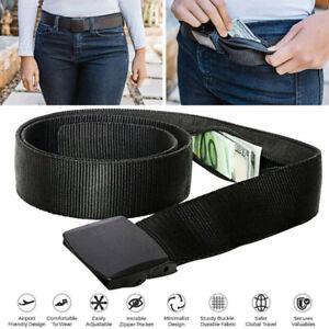 Travel Security Money Belt with Hidden Money Pocket Cashsafe Anti-Theft WalletDS