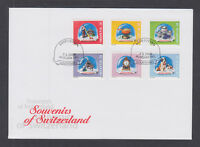 Switzerland Mi 1709/1745, 2000 issues, 10 complete sets on 10 official FDCs, VF