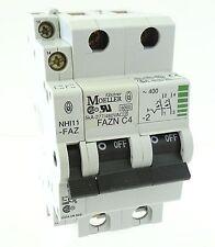 Moeller FAZN C4-2 Sicherungsautomat Leitungsschutzschalter 2pol 4A + NHI11-FAZ
