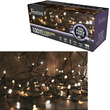 100 LED Christmas Xmas Lights Dual Powered Outdoor/Indoor White / Warm White