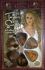 TAYLOR SWIFT 2008 Holographic Guitar Pick 6-Pack w/ Free Locker Poster