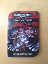 Games Workshop 40k Chaos Daemons Psychic Powers