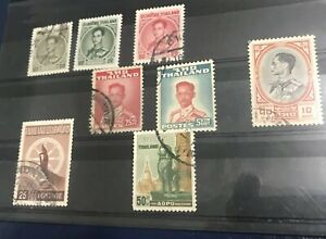 Thailand: Lot Of 8 Different  Used. Lot # 9417