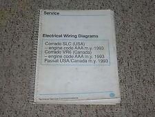 1993 VW Volkswagen Passat Electrical Wiring Diagrams Service Manual B4 Syncro