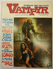 COLLANA DEL TERRORE PSYCHO/VAMPYR 1/8 - SERIE COMPLETA 1973 - RARA!!!