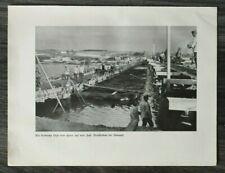 AQ) Blatt 2.WK 1940 Pioniere Brücke Bau Annopol Polen Feldbäckerei Essen WWII