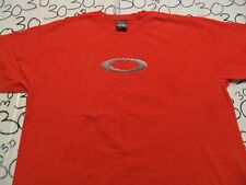 XL Vintage Scatter Logo Oakley 3-D Lightly Cracked Graphic Shirt