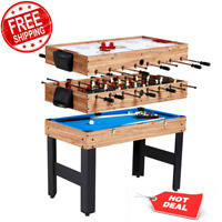 Indoor Sport Games 3-In-1 Combo Game Table Billiards Set, Hockey, Foosball NEW