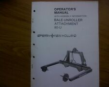 New Holland 80-U bale unroller Owners manual / operators book