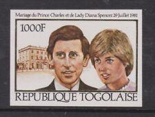 1981 Royal Wedding Charles & Diana MNH Stamp Set Togo Imperf