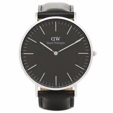 DANIEL WELLINGTON 40mm Silver Classic Black Sheffield Men's Watch DW00100133