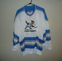 Phoenix ROADRUNNERS Vintage Hockey Jersey MENS SZ LARGE / XL White Bauer