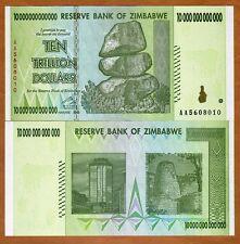 Zimbabwe, 10 Trillion, 2008, P-88, UNC > 50 and 100 trillion series