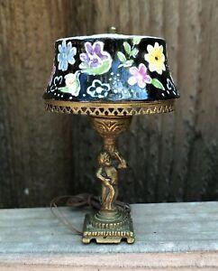 1:12 Scale OOAK Handmade Table Lamp - Ni Glo
